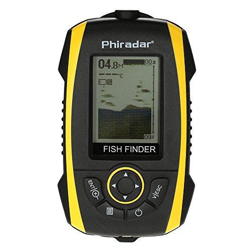 Docooler Transducteur de Poissons Portable Capteur Affichage Viseur LCD Indicateur de Sondeur de Pêche de Plein Air Pêche Electronique Outil Équipement
