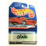 Hot Wheels 1998 First Editions Go Kart Neon Green #21 Of 40 Cars Collector #651