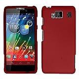 Red Rubber Hard Rubberized Case Cover Faceplate For Motorola Droid Razr Maxx Max Hd Razor 926M with Free Pouch