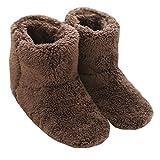 Mianshe 冬 北欧ルームシューズ ルームブーツ 暖かい もこもこ 可愛い 靴下 来客用 男女兼用 ブラウン L