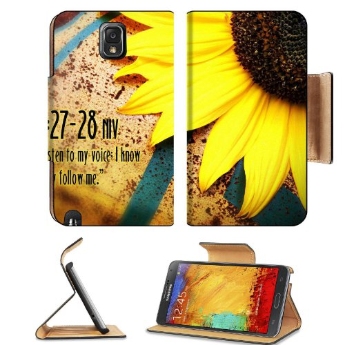 Christian wallpaper with Sunflower Samsung Galaxy Note 3 N9000 Flip Case Stand Magnetic Cover Open Ports Customized Made to Order Support Ready Premium Deluxe Pu Leather 5 15/16 Inch (150mm) X 3 1/2 Inch (89mm) X 9/16 Inch (14mm) MSD Note cover Profession Picture