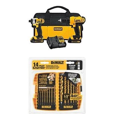 DEWALT DCK240C2 20v Lithium Drill Driver/Impact Combo Kit (1.3Ah)