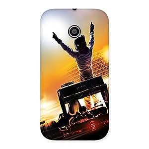 Ajay Enterprises Rock Man Back Case Cover for Moto E