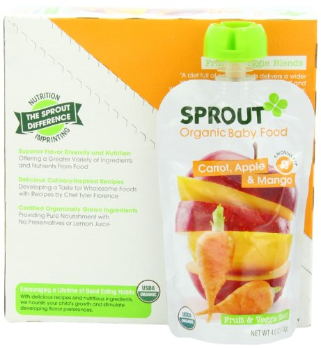 Sprout Intermediate Organic Baby Food Carrot Apple and Mango 4 0 Ounce Pack of 5