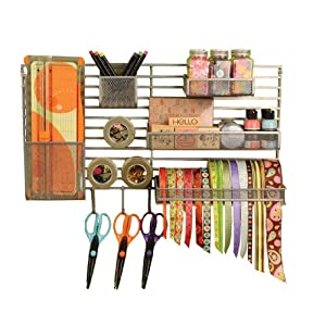 Click to buy Craft Organizer: Wall Mounted Craft Storage Solution from Amazon!