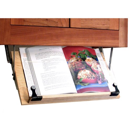 Under Cabinet Drop Down Shelf Hardware: Under Cabinet Cookbook Holder $3.35
