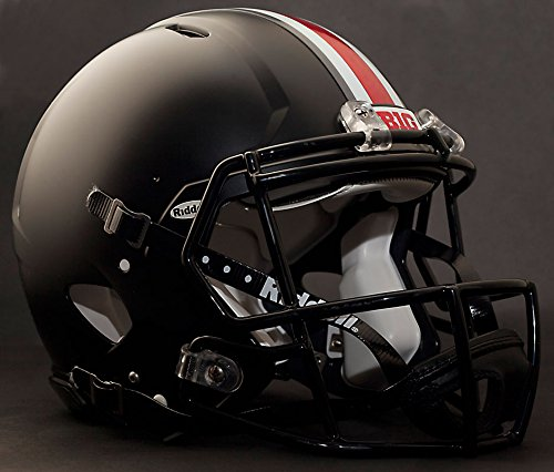 OHIO STATE BUCKEYES NCAA Riddell Revolution SPEED Football Helmet (MATTE BLACK)