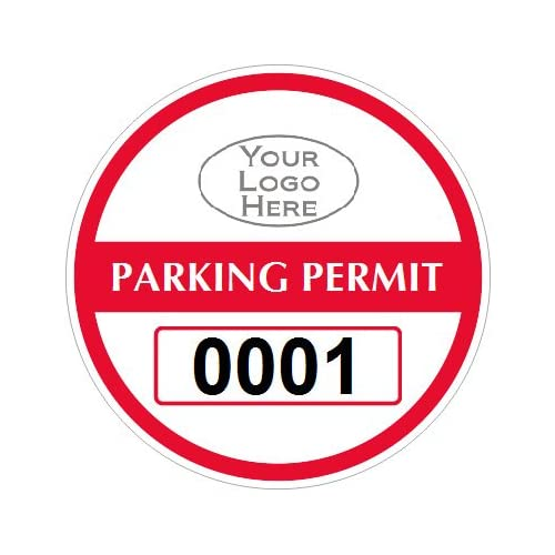 Parking Labels -, Razz-Ma-Tazz Sparkle Window Decals (Back Adhesive), 50 Labels / Pack, 3