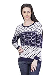 Kalt Women's Cotton Sweater (W134 S _Multicolour_Small)