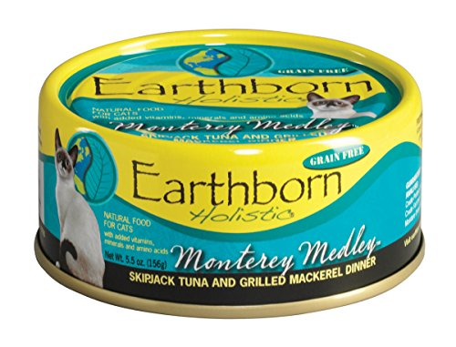 Earthborn Holistic Monterey Medley Skipjack Tuna And Grilled Mackerel Dinner Wet Cat Food, 5-1/2-Ounce Can, 24-Pack