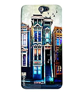 Omnam English House Blue Effect Painted Printed Designer Back Cover Case For HTC One A9