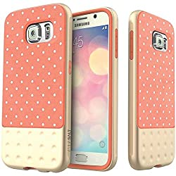 Galaxy S6 case Caseology [Riot Series] [Pink] Premium Leather Bumper Cover [Leather Grip] Samsung Galaxy S6 case