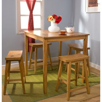Belfast 5 Piece Counter Height Dining Set Finish: Rustic Oak front-610275