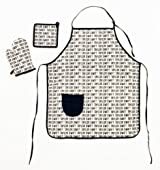 Black Signature 3 pc Apron Set