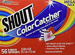 Shout Color Catcher Washer Dye Trapping Sheet,56 Count Mega Pack