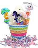 Clucking Cadbury Bunny Easter Basket with Spinning Ears Smarties Fan