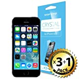SPIGEN iPhone 5S Screen Protector Clear [Crystal] [4-PACK] **Value Pack** [LIFETIME WARRANTY] Premium Front Screen Protector + Back Protector for the NEW iPhone 5S and iPhone 5 - AT&T, Verizon, Sprint, T-Mobile, International - Crystal CR (SGP10352)