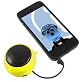 ITALKonline Sony Xperia Z1 Compact D5503 Yellow 3.5mm High Quality Portable Rechargeable Pop Up Mini Capsule Speaker with USB Charging Cable