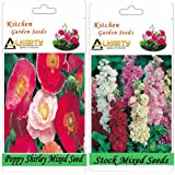 Alkarty Poppy Shirley Mixed And Stock Mixed Seeds Pack Of 20 (Winter)