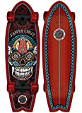 Santa Cruz Skateboards Sugar Skull Shark Cruzer 8.8 x 27.7-Inch Skateboard