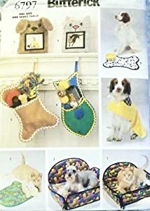 Butterick Sewing Pattern 6797 - Use to Make - Dog / Pet Gift Items / Accessories