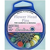 Hemline Flower Head Pins, 54mm, pk of 60