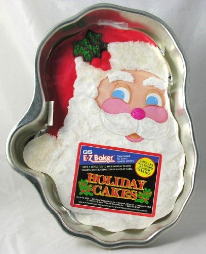 GS EZ Baker Holiday Cake Pan Santa Clause Face Shape Metal #5006