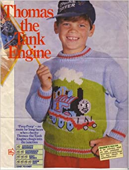 Childrens Thomas The Tank Engine Motif Sweater Knitting Pattern: To fit ...