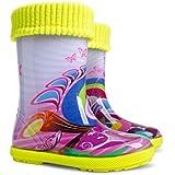 Exclusive Boys Girls Kids Warm Fleece Lined Wellington Boots Wellies