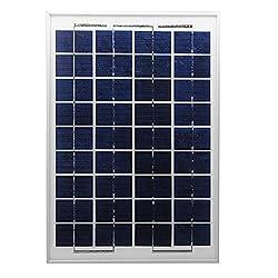 DIY 10W Solar Panel For 12V Battery Charging Polycrystalline Silicon