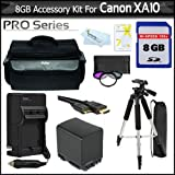 8GB Kit For Canon XA10 Professional Camcorder Includes 8GB High Speed SD Memory Card + USB 2.0 SD Card Reader...