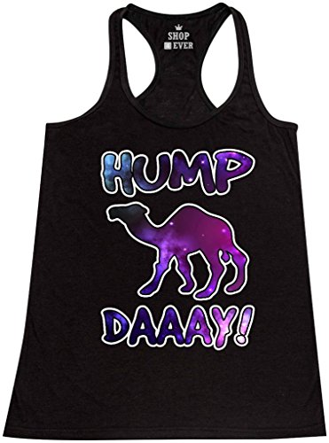 Shop4Ever® Hump Day! Galaxy Women's Racerback Tank Top Funny Tank Tops Large Black 0