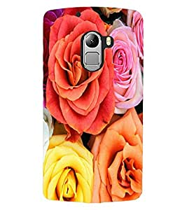 ColourCraft Beautiful Roses Design Back Case Cover for LENOVO VIBE K4 NOTE