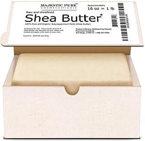 Majestic Pure Organic Shea Butter, 1 Pound