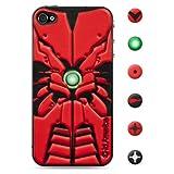 id America iPhone4S,iPhone4用 3D保護シール Cushi Robotics Red csi405RED