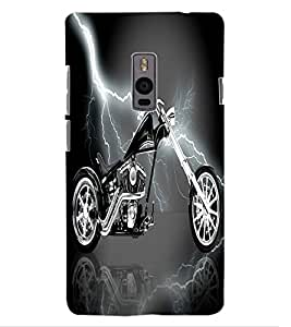 ColourCraft Amazing Bike Design Back Case Cover for OnePlus Two