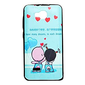 ksc sales New Rubber Finish Printed Silicone Soft Back Case Cover For Panasonic Love T35