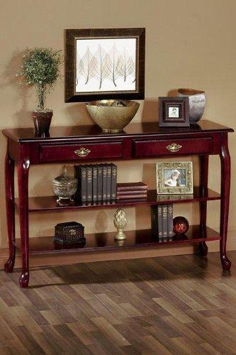 Traditional 47 w 2 shelf Console Table 47 W MAHOGANYB0000CH3QM