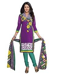 AASRI Women Cotton Unstitched Salwar Suit - B015N8P3HS