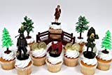 """THE HOBBIT an Unexpected Journey 14 Piece Birthday CUPCAKE Topper Set Featuring 6 Random Hobbit Figures, Themed Decorative Accessories, Figures Average 3"""" Tall"""