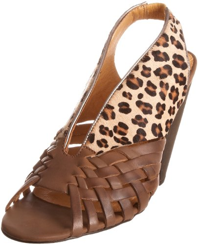 Ravel Women's Graphic Tan/Leopard Open Toe Rlp711 5 UK