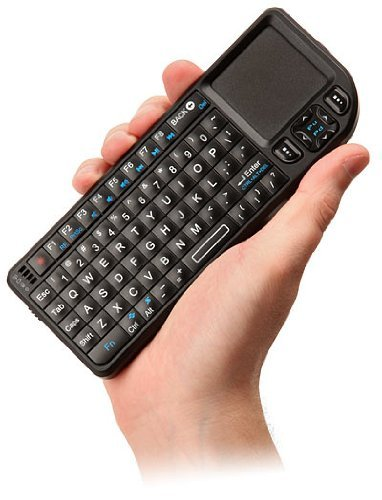 Mini Wireless Bluetooth Keyboard - Compatible With Apple Ipad, Pc, And Mac - Features Built-In Touchpad Mouse, Backlit Display And Laser Pointer