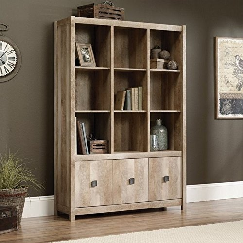 Sauder Cannery Bridge Storage Wall - Lintel Oak (Wall Unit Bookcase compare prices)