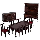 Brand New 1:12 Scale Dolls House Miniature Mahogany Dining Room Set