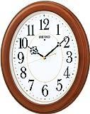 SEIKO CLOCK(セイコークロック) 木枠スタンダード電波アナログ掛時計(楕円・茶) KX390B