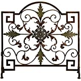 Deco 79 Metal Fire Screen, 35 by 34""