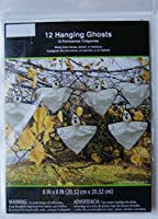 Halloween Outdoor Decorations - 12 Hanging Ghosts from Walmart Stores Inc