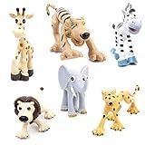Este bosque animales set tiene 6 piezas de diferentes animales, incluyendo elefantes, leopardos, cebras, leones, el tigre y el ciervo.Con excelentesdetalles yrealistala forma,este bosqueanimalespuede sergranjugueteeducativopara los ...