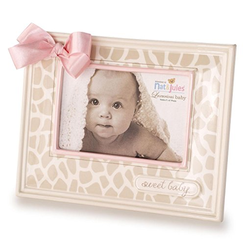 Nat and Jules Sweet Baby Giraffe Frame, Pink