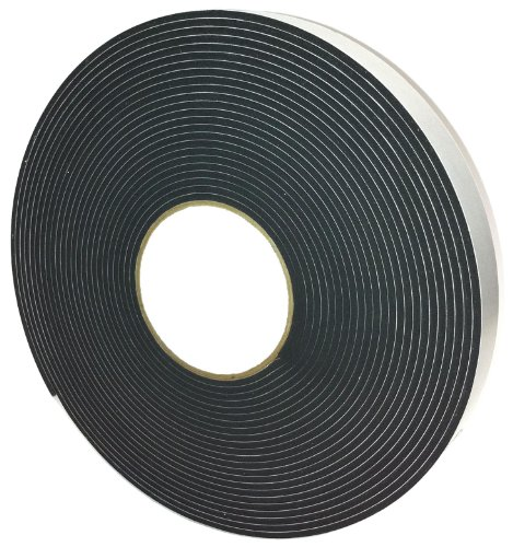 Flame Retardant Cellular Urethane Foam Gasket Tape, 0.188&#8243; Thick x 0.75&#8243; Wide x 48 Foot Roll with Acrlyic Adhesive Backing, 1 Roll